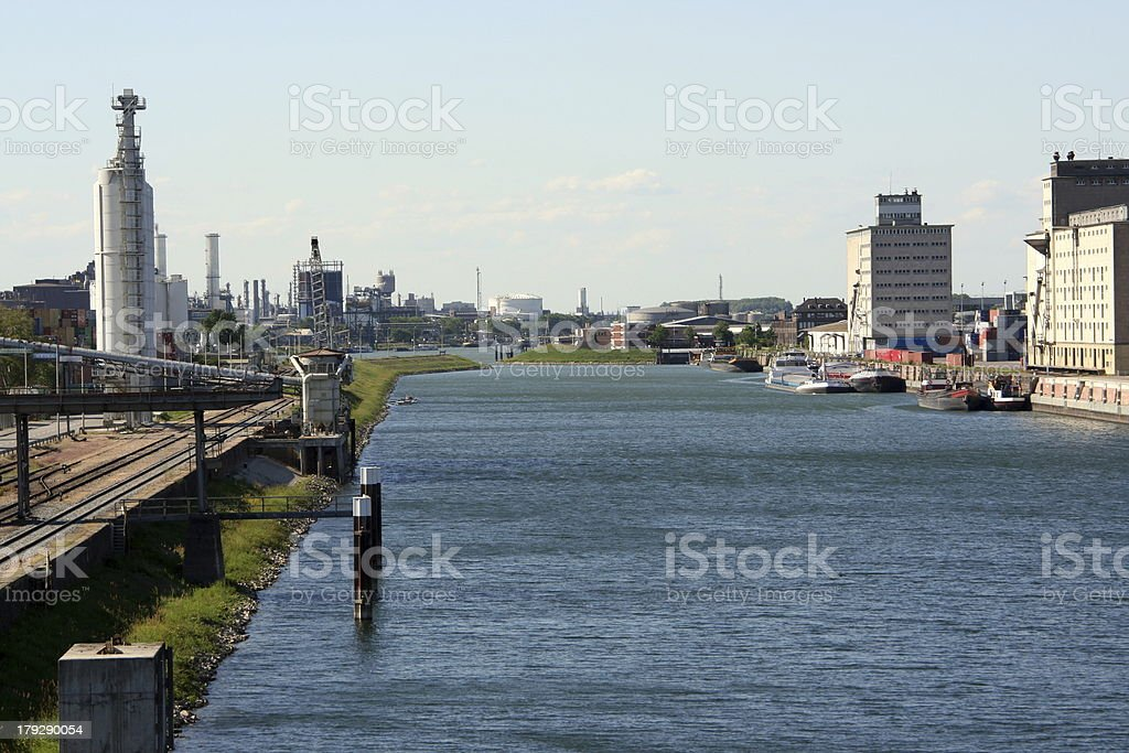 Mannheim habor stock photo