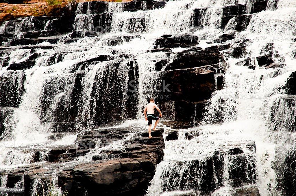 Manning Gorge Waterfall - Australia stock photo