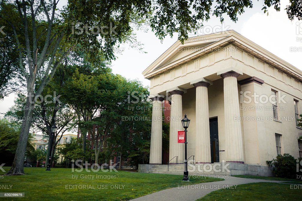 Manning Hall on Brown University campus in Providence, Rhode Island stock photo