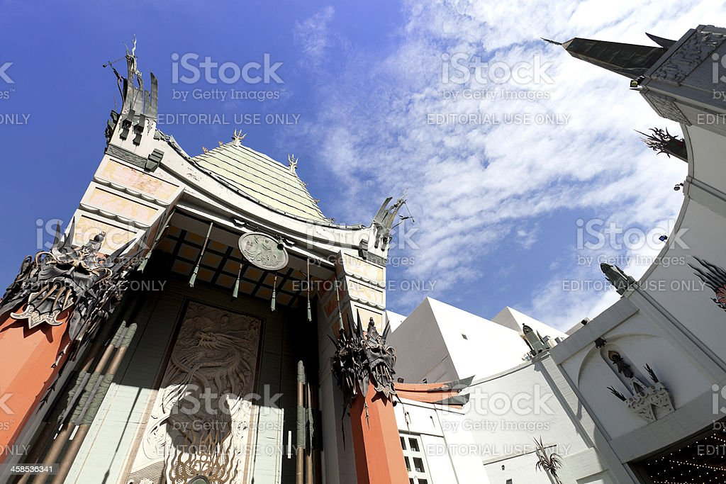 Mann's Chinese Theatre in Los Angeles, CA royalty-free stock photo