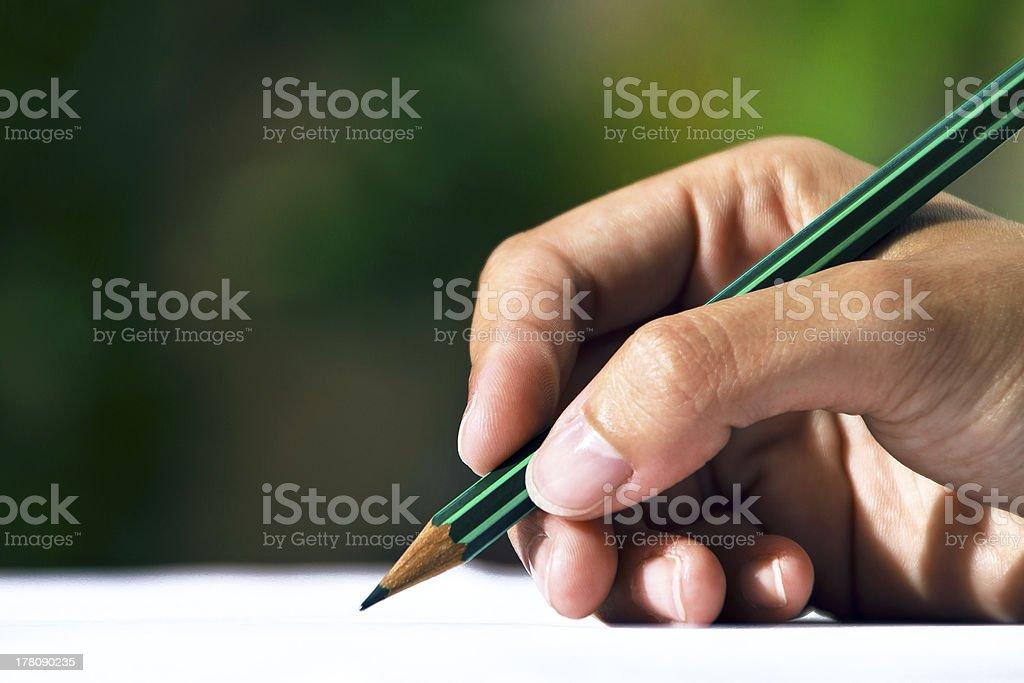 Mano escribiendo. royalty-free stock photo
