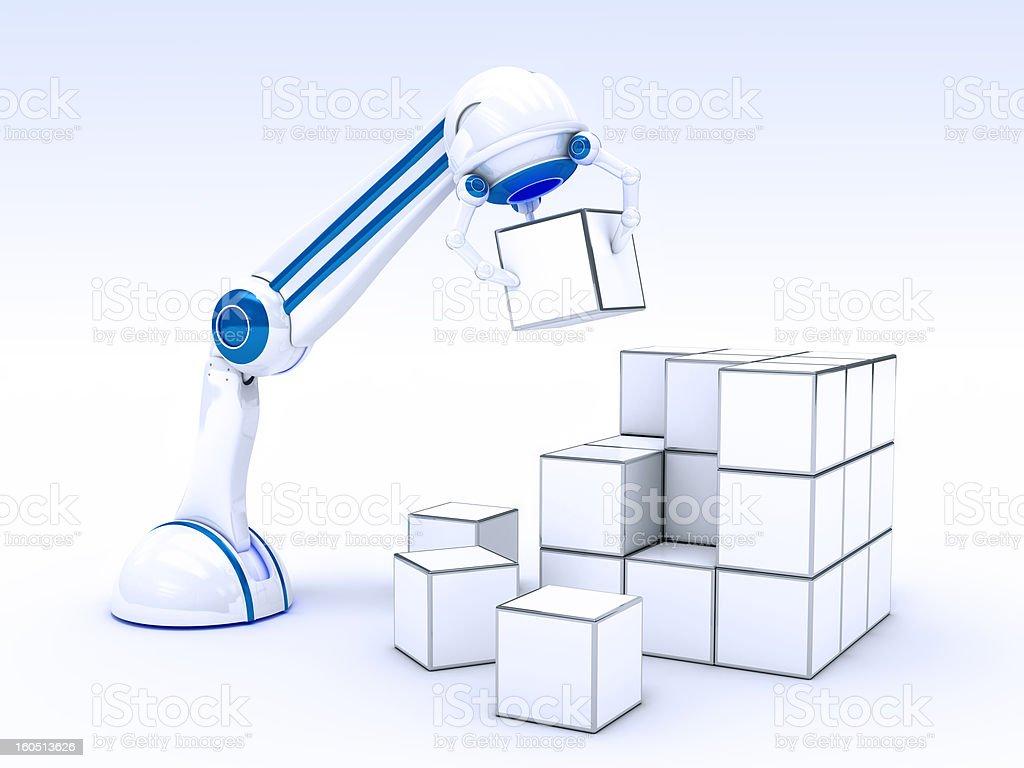 Mano Robotica con Cubetti royalty-free stock photo