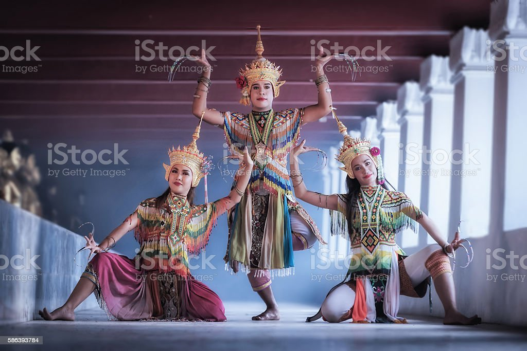 Manohra models stock photo