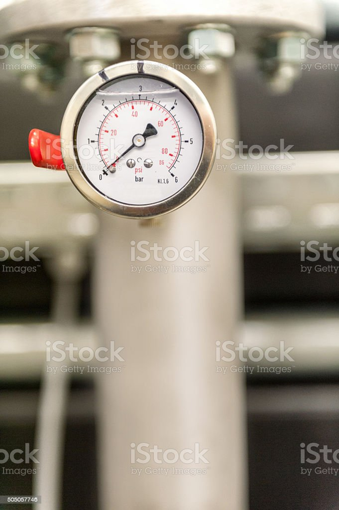 Manometer in power station stock photo