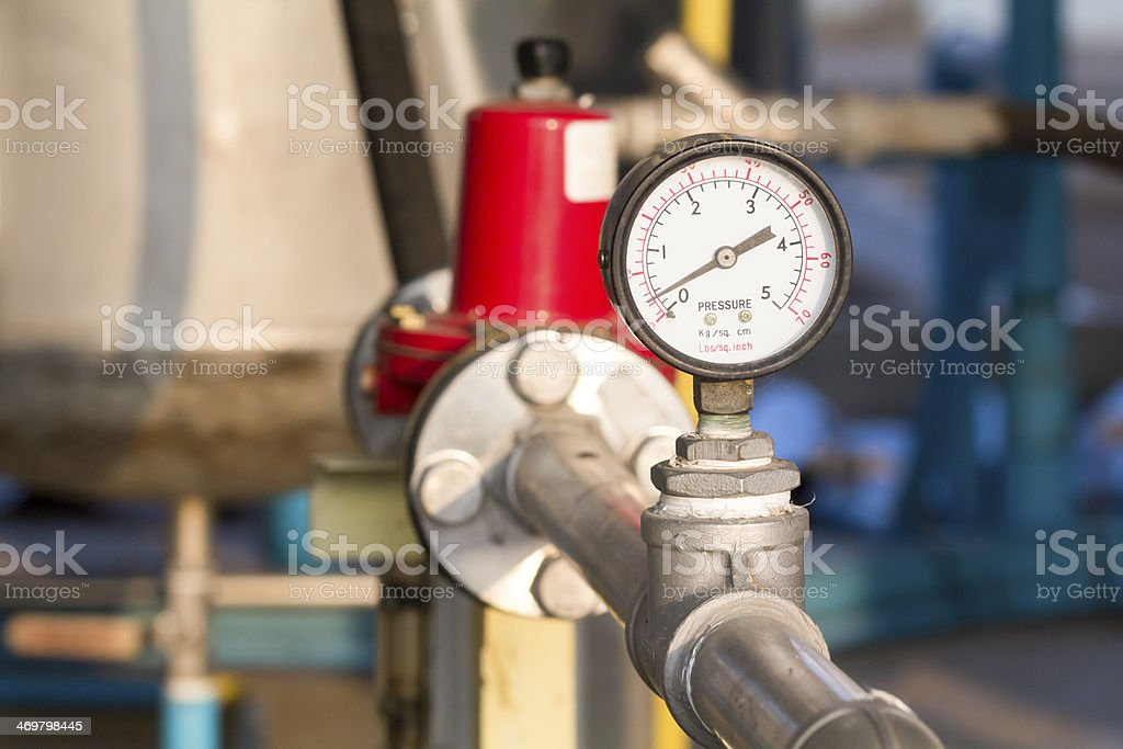 manometer or pressure gauge stock photo