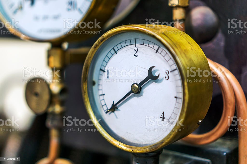 Manometer stock photo