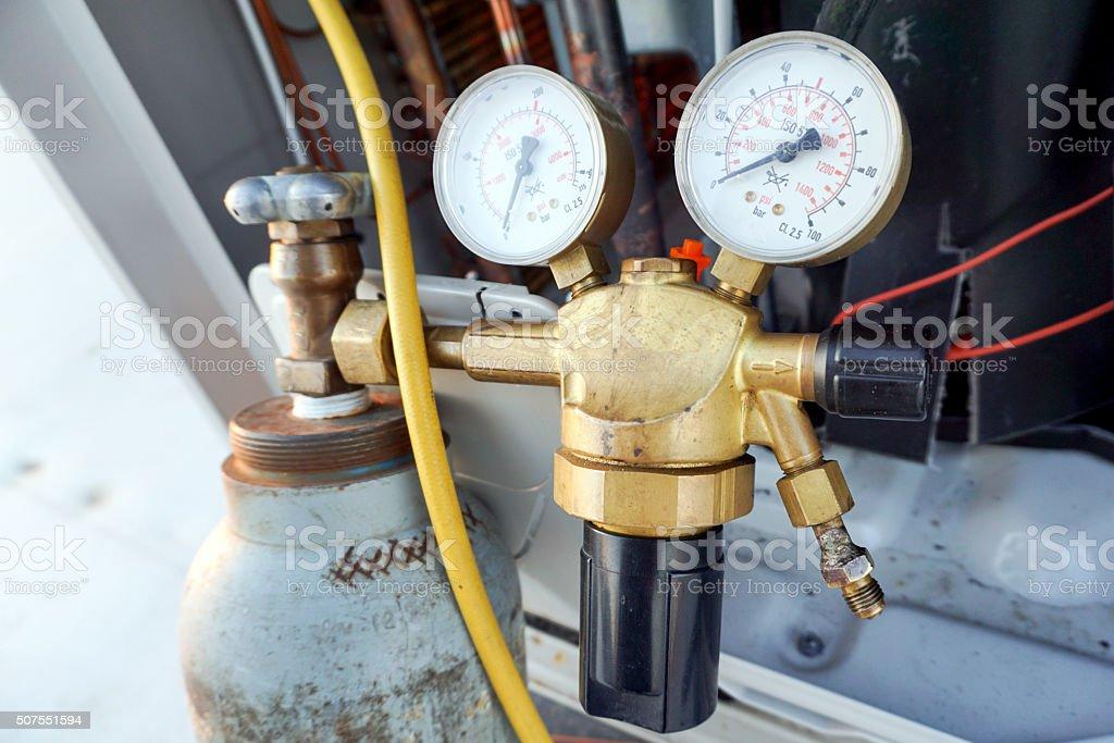 Manometers High-pressure stock photo
