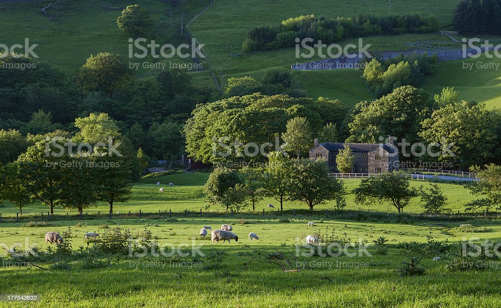 Manor house in English countryside royalty-free stock photo