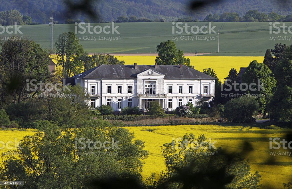 Manor 'Ohr' on the river Weser stock photo
