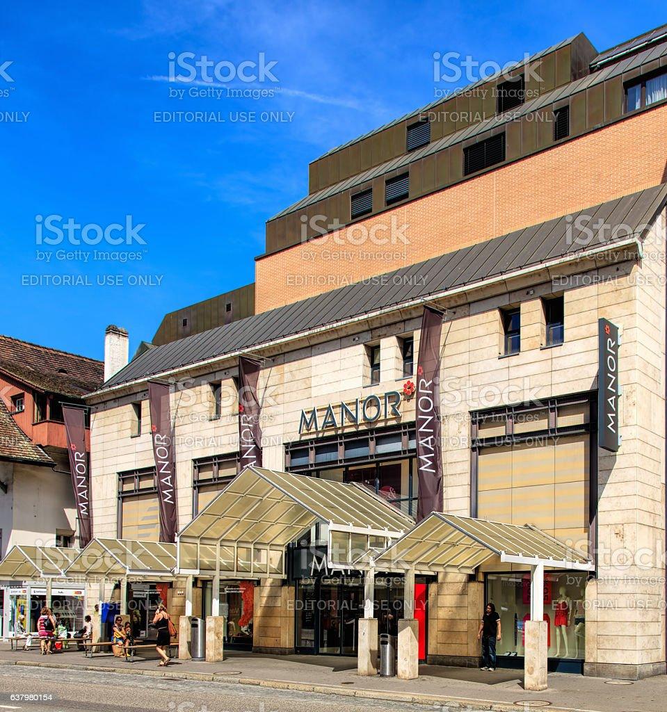 Manor store in Aarau, Switzerland stock photo