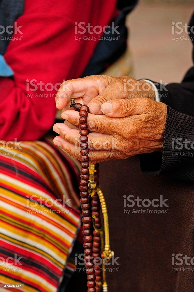 Manos budistas stock photo