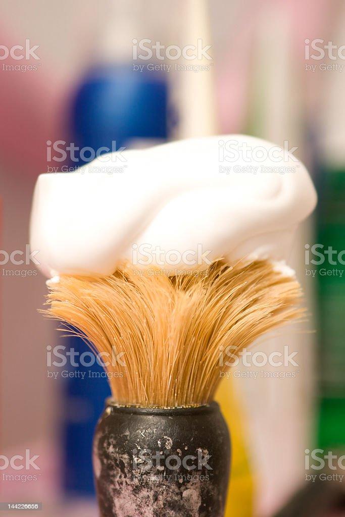 Man's accessories - shaving brush royalty-free stock photo
