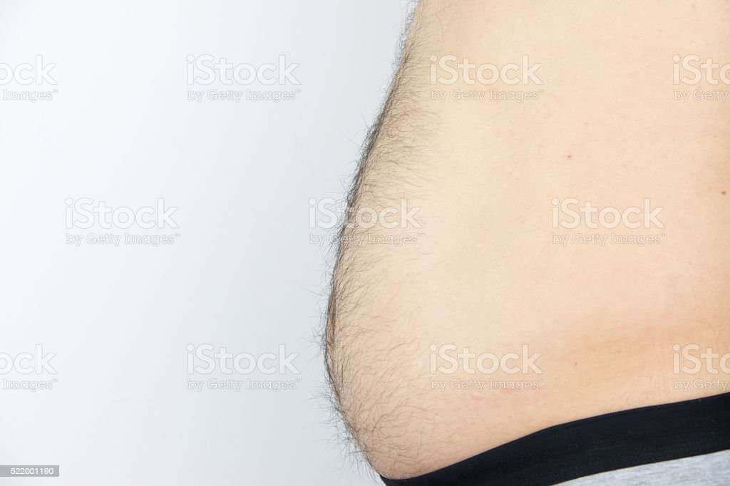 Man's belly stock photo