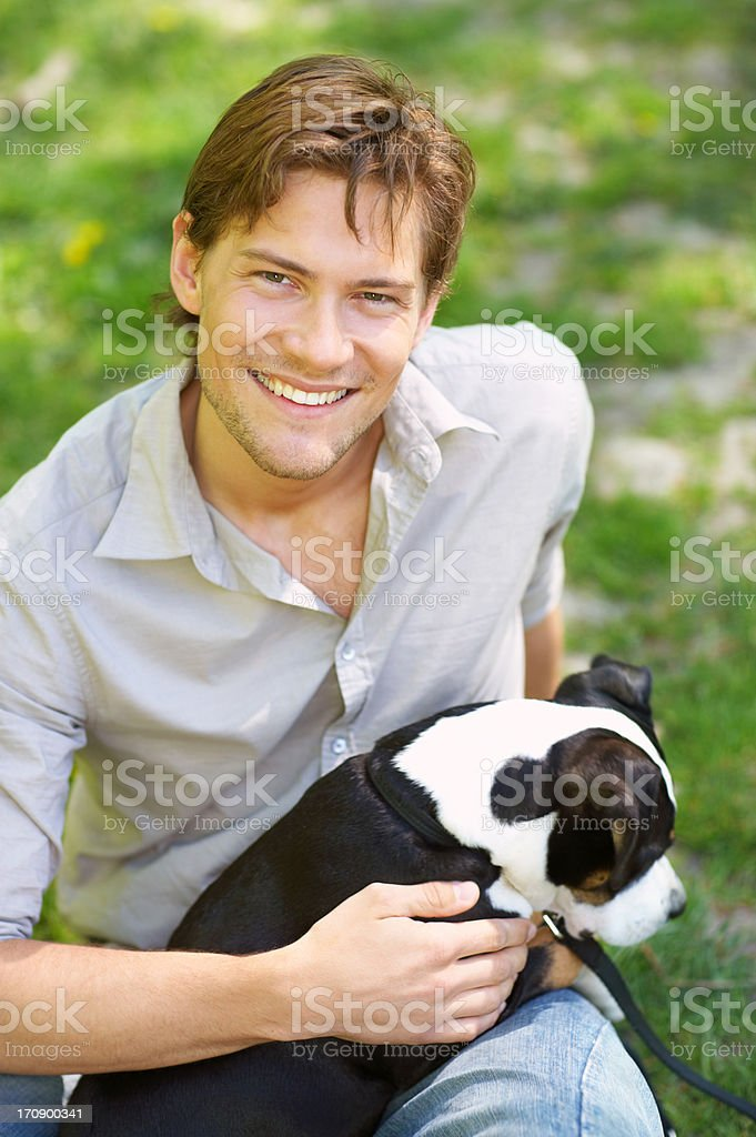 A mans best friend royalty-free stock photo