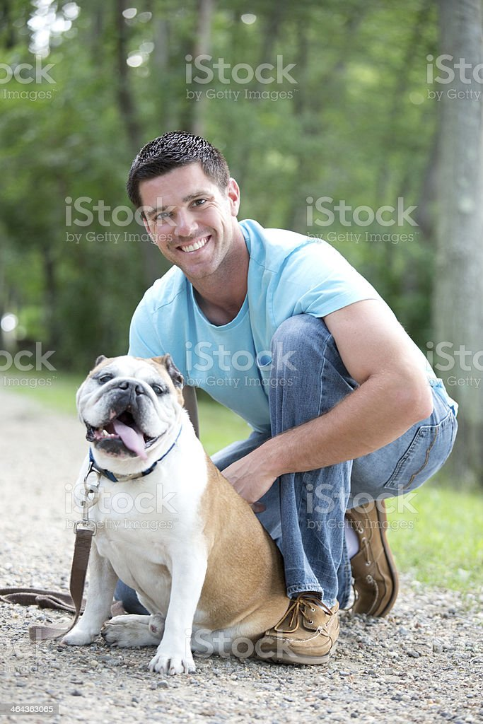 mans best friend stock photo
