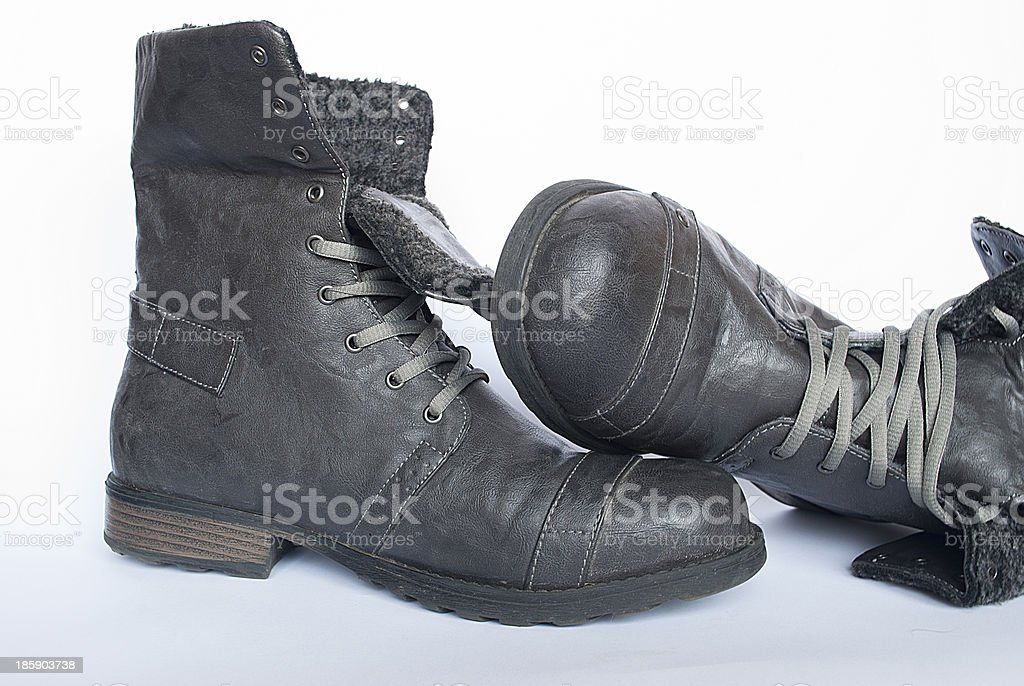 Mans boots royalty-free stock photo