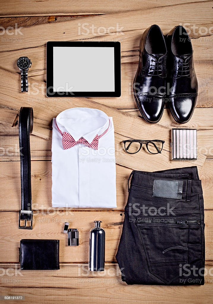 Man's Casual business outfit stock photo