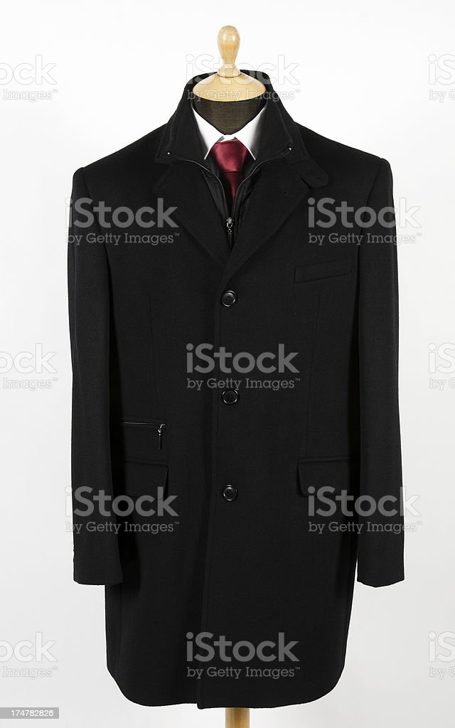 Man's coat on mannequin, isolated royalty-free stock photo
