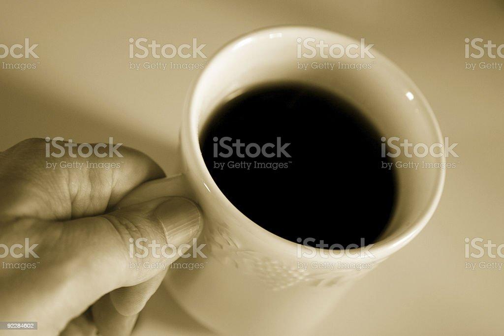 Man's Coffee royalty-free stock photo
