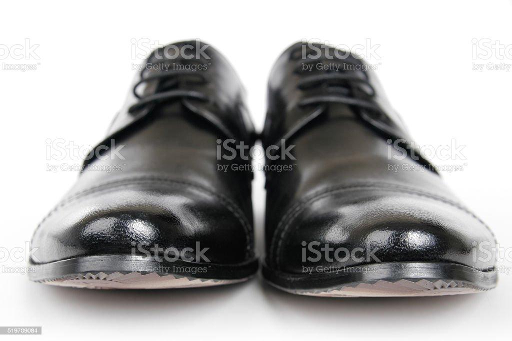Man's elegant shoes stock photo