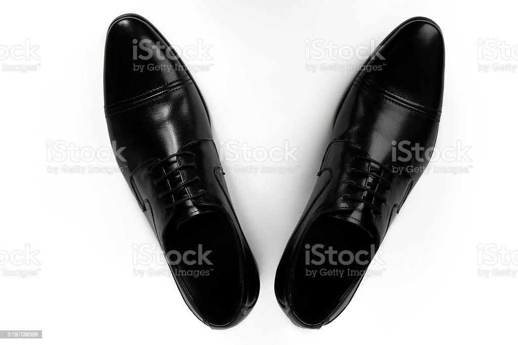 Man's elegant shoes stock photo