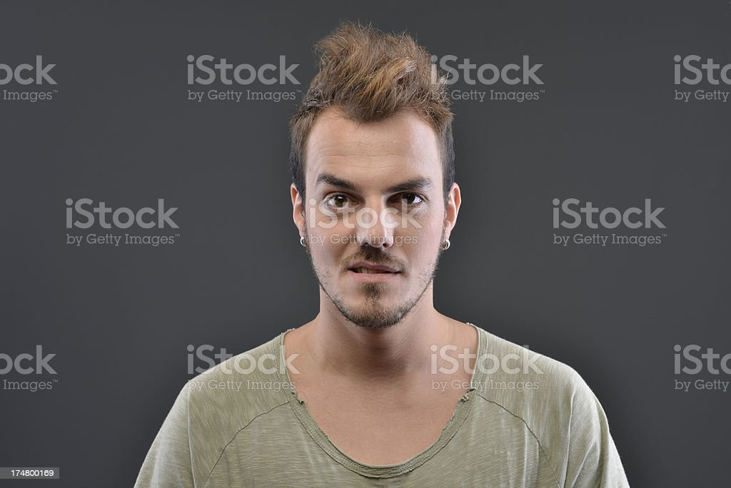 man's facial expressions royalty-free stock photo