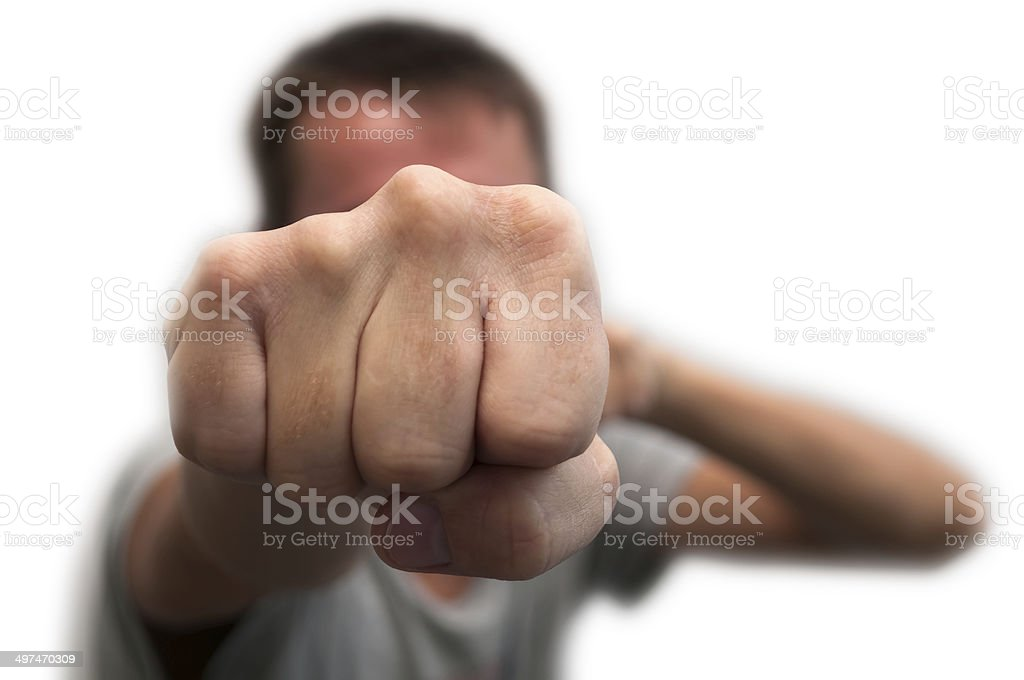 Man's fist stock photo