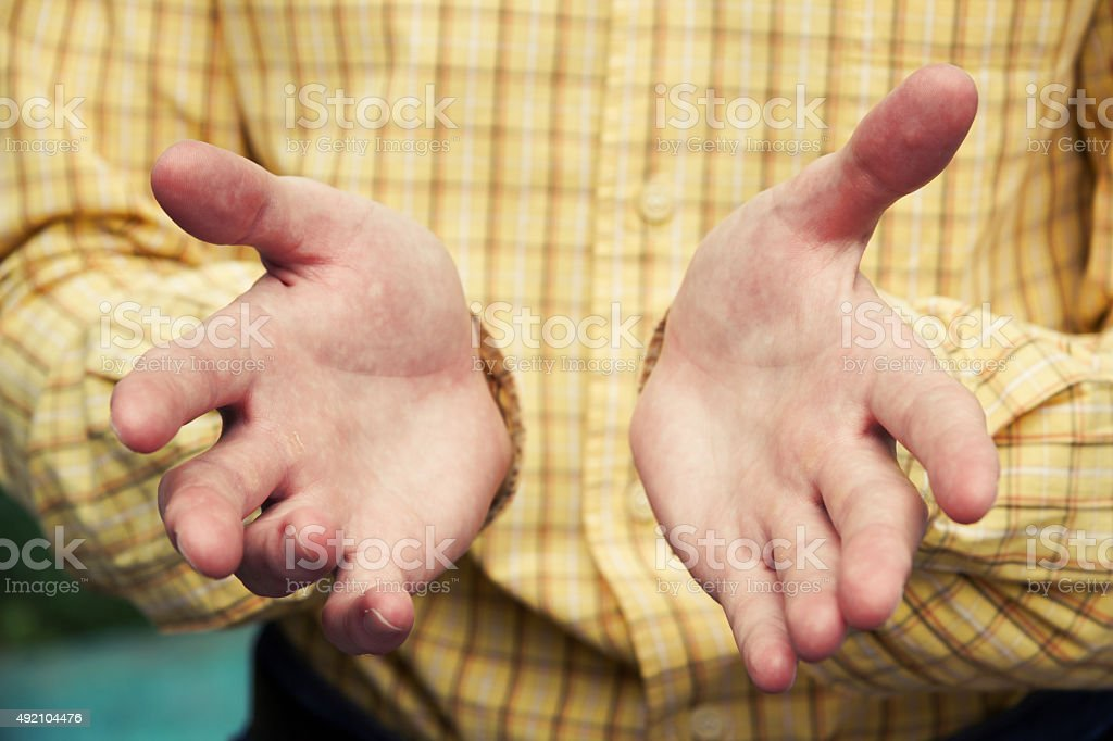 Man's hand gesture. Businessman's hands stock photo