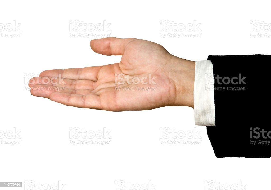 man's hand isolated on white background royalty-free stock photo