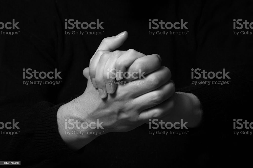 Man's hands royalty-free stock photo