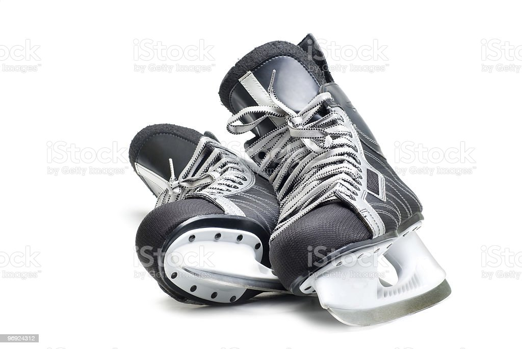 Man's hockey skates royalty-free stock photo