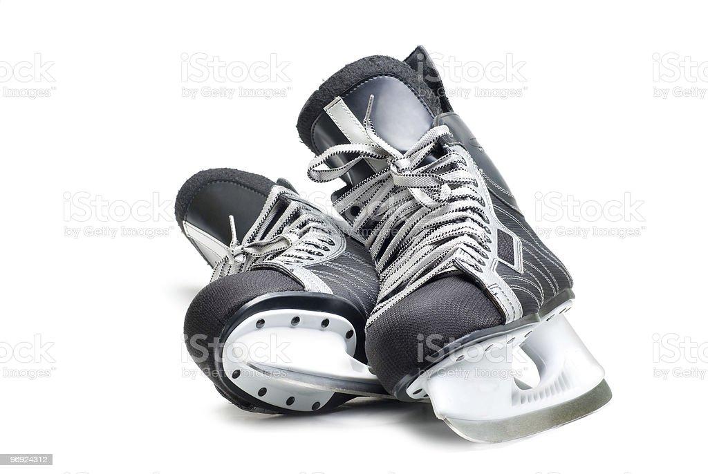 Man's hockey skates stock photo