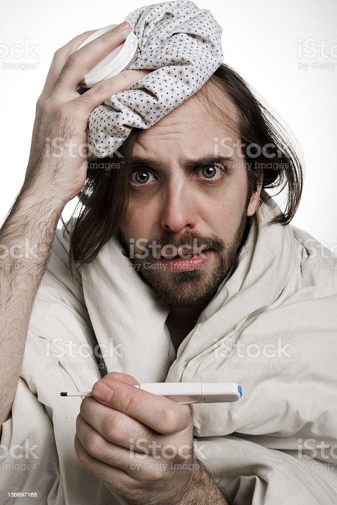 Man's illness... so hard. royalty-free stock photo