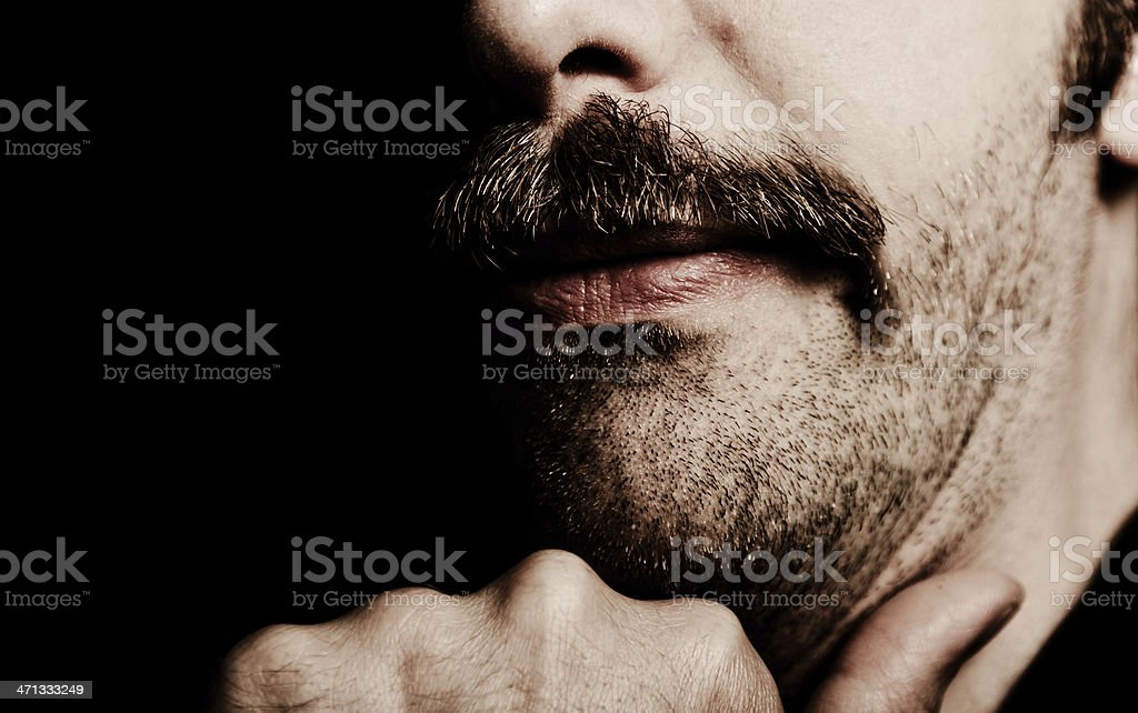 Man's issue stock photo