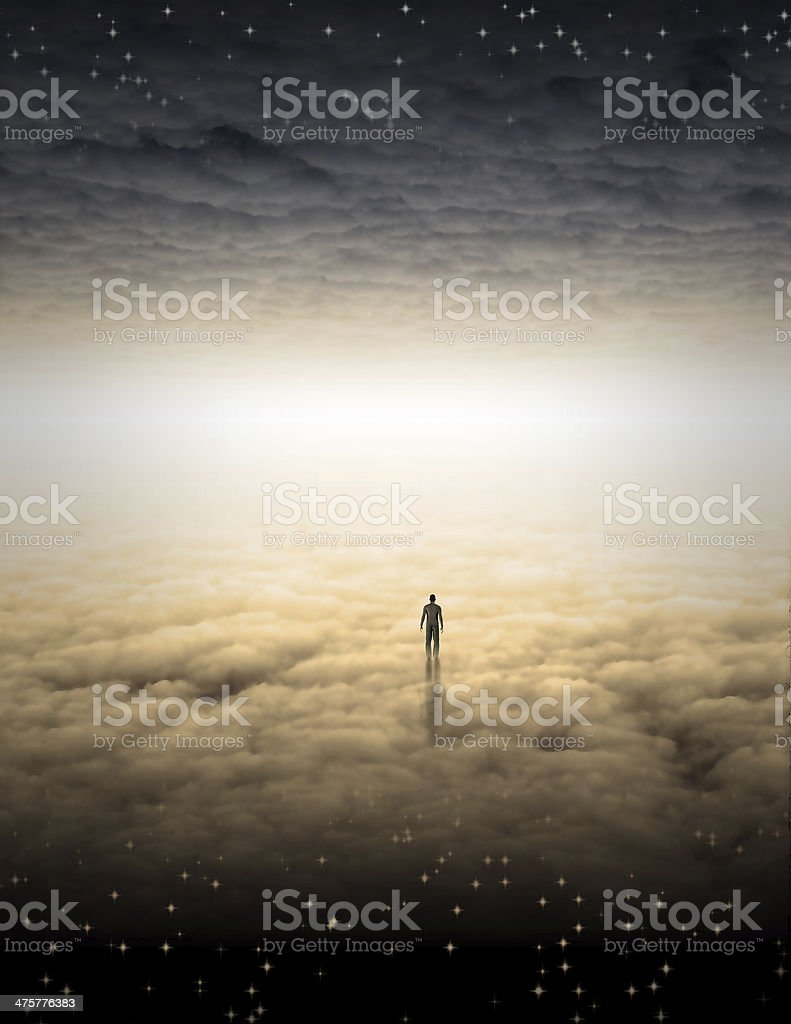 Mans Journey of the Soul stock photo