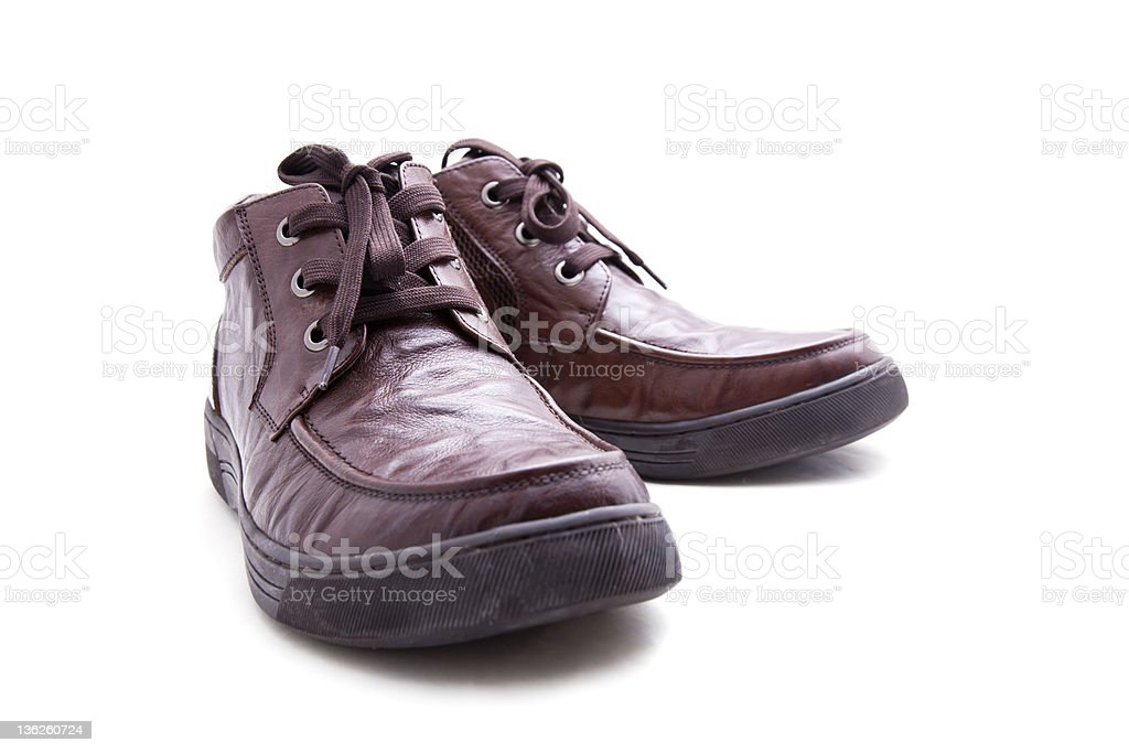 man's leather boots royalty-free stock photo