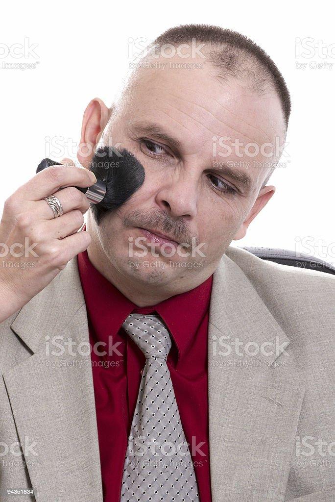 man's make-up stock photo