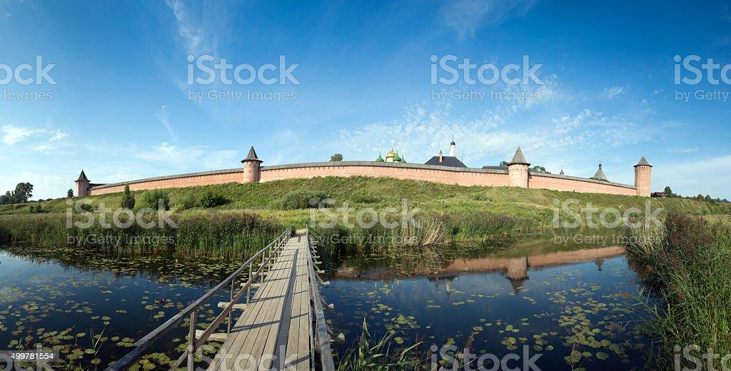 Man's monastery stock photo