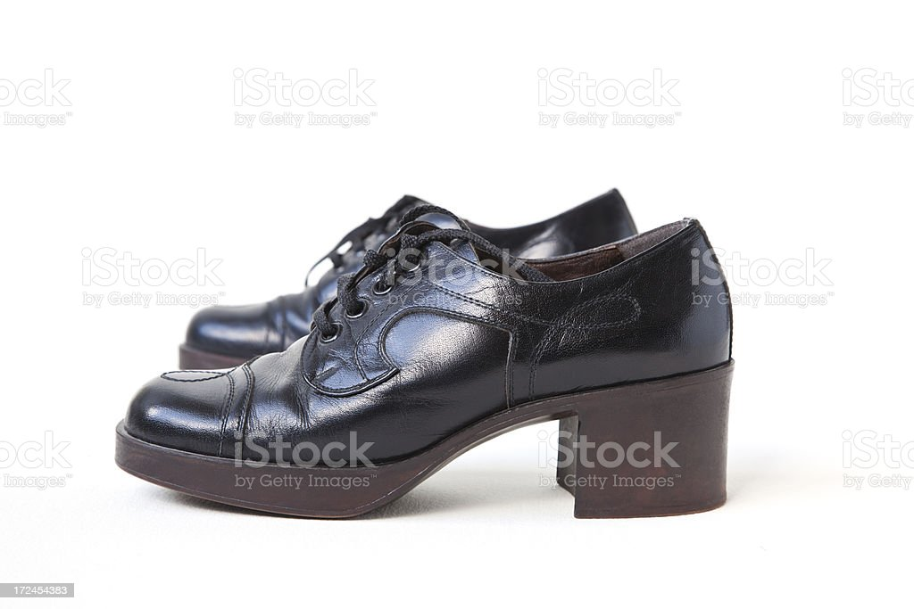 Man's platform shoes from 1970's stock photo