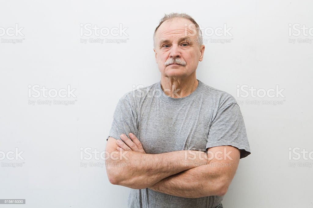 man's portrait stock photo