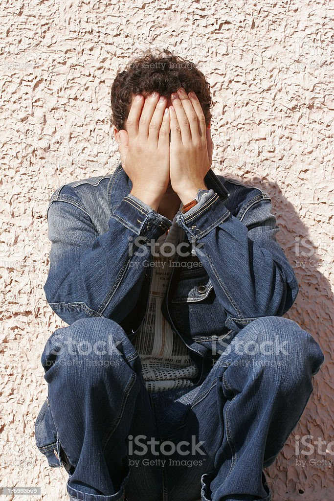 Man's problems royalty-free stock photo