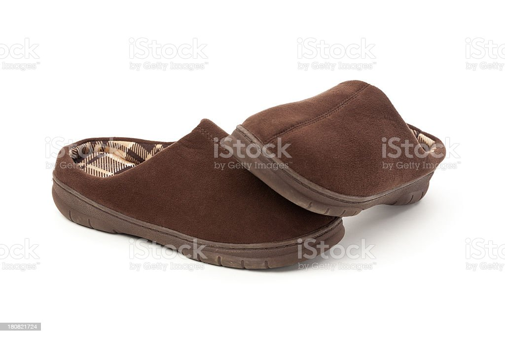 Mans Slippers royalty-free stock photo
