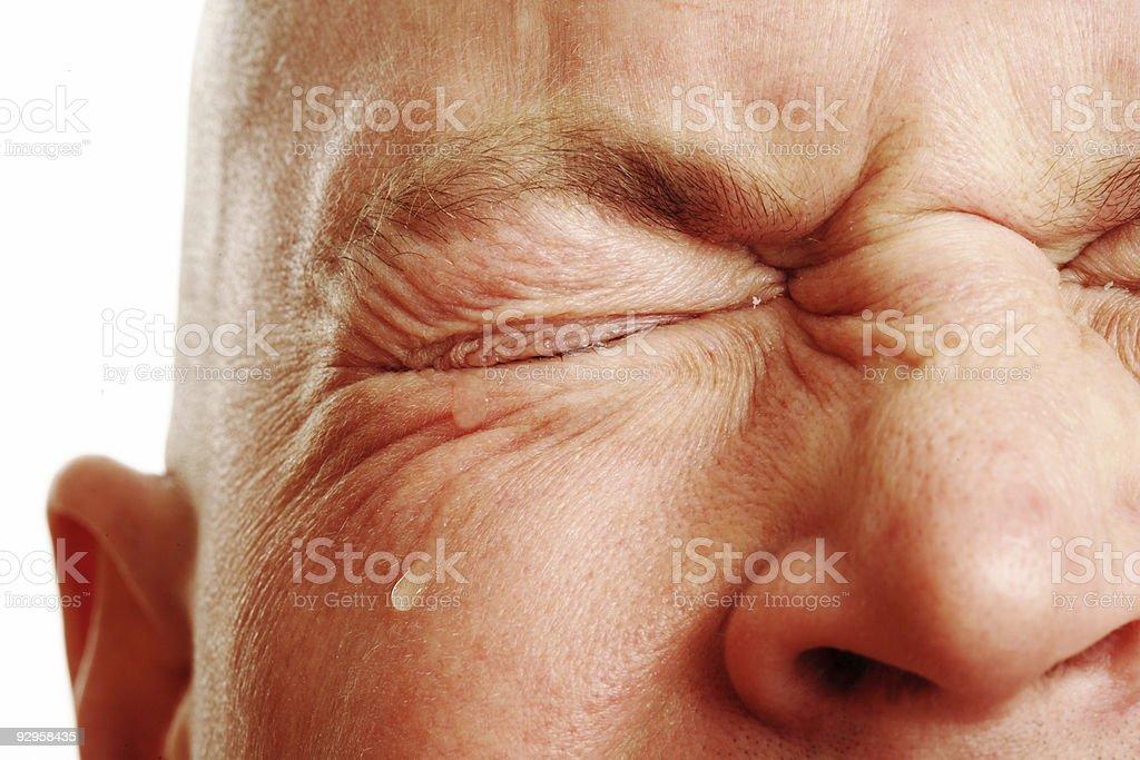 Man's Tears stock photo