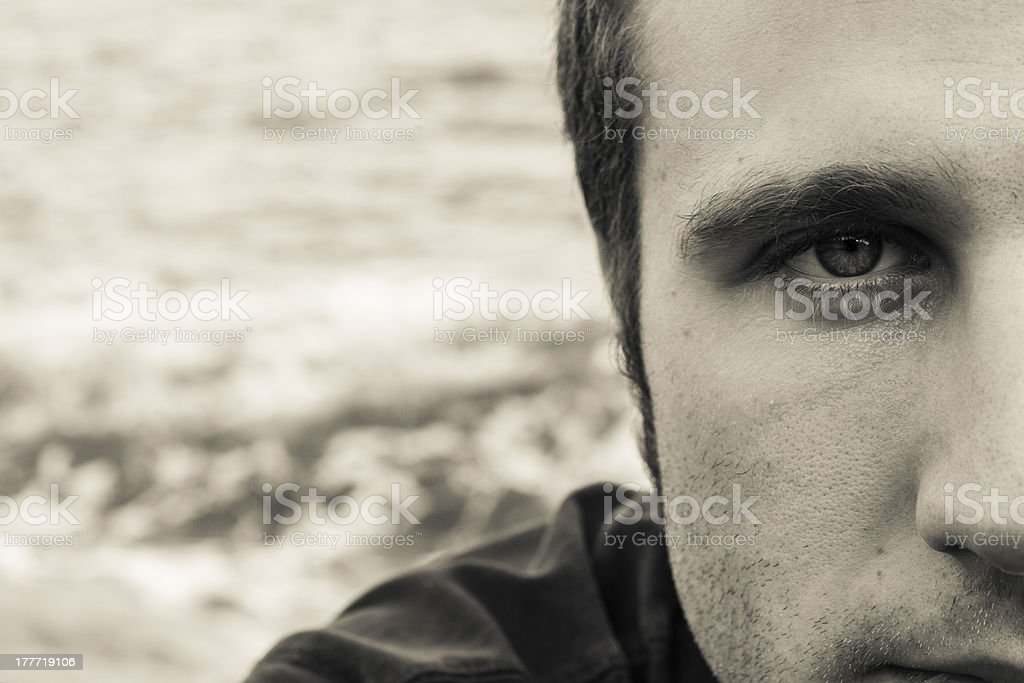 Man's tender look royalty-free stock photo