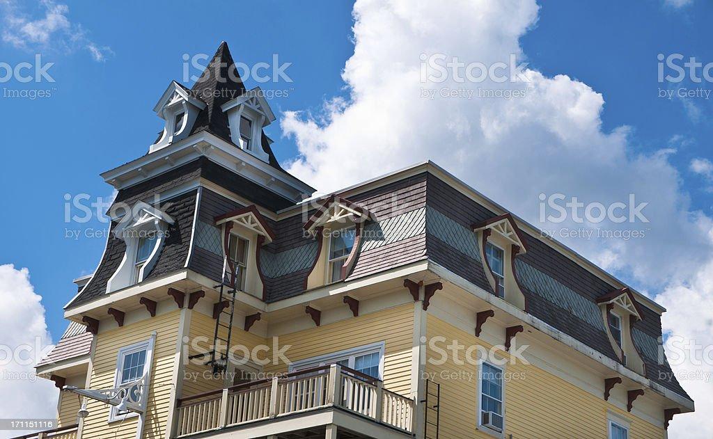 Mansard Roof Victorian stock photo