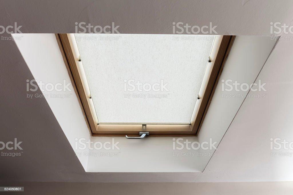 Mansarde window isolated on white stock photo