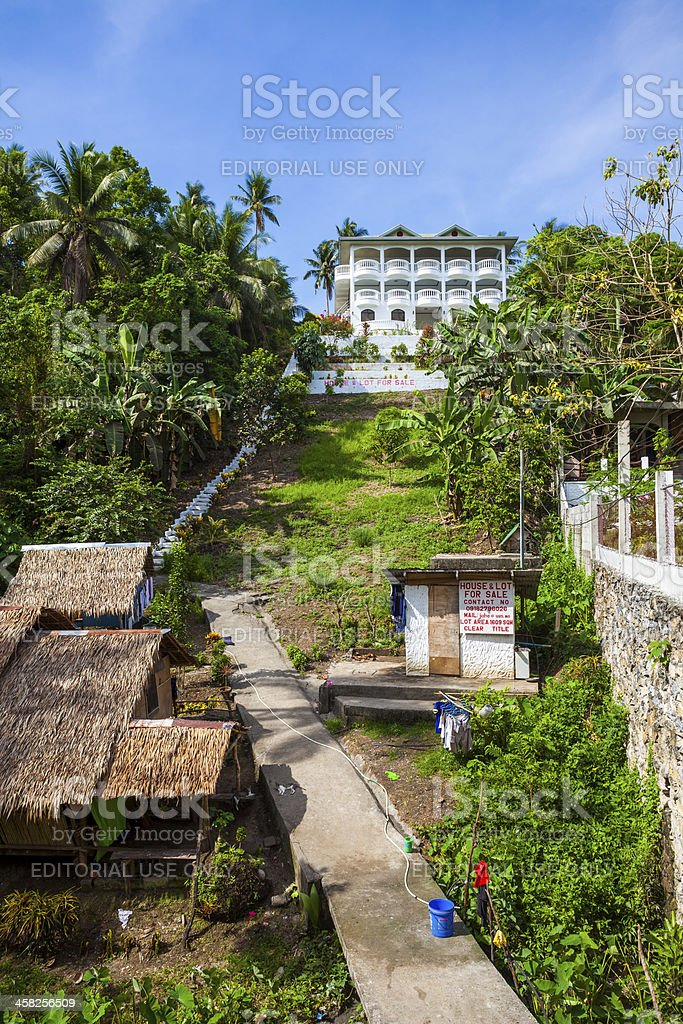 Mansion and servants quarters, Philippines stock photo