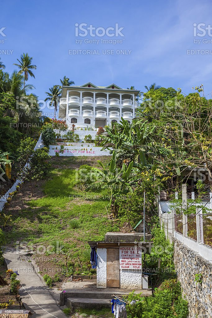 Mansion and servants quarters, Philippines royalty-free stock photo