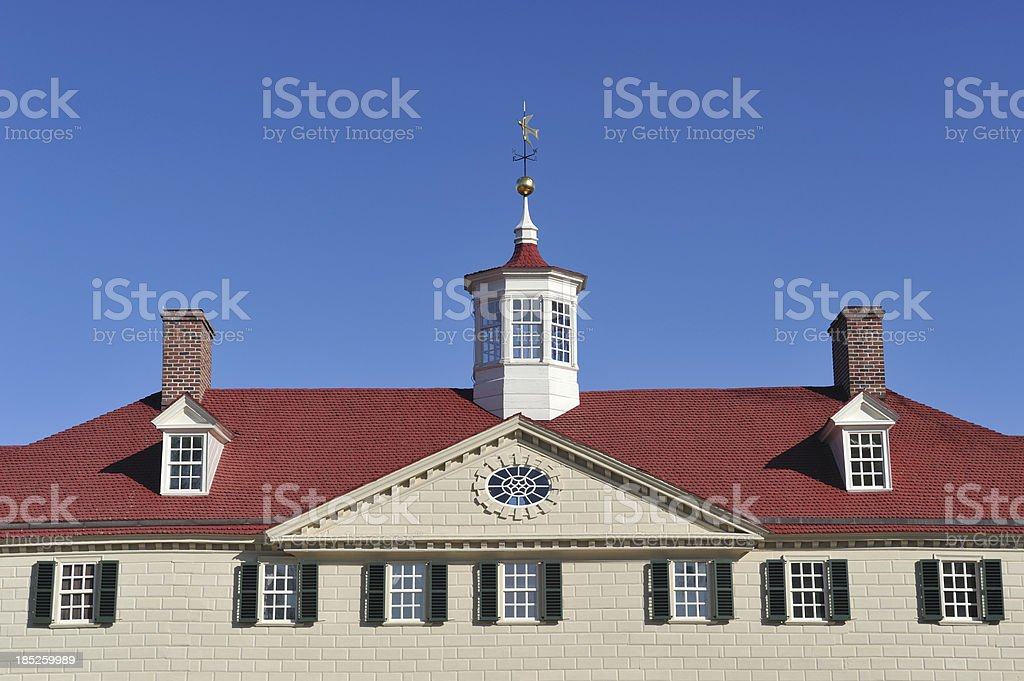 Mansion at Mount Vernon stock photo