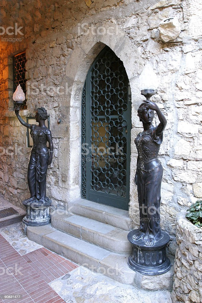 Mansion entrance royalty-free stock photo
